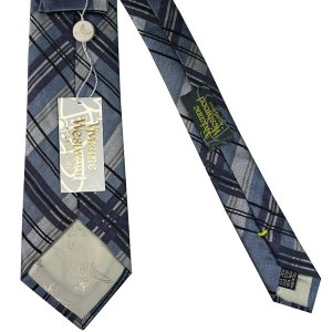 Vivienne Westwood ヴィヴィアン・ウェストウッド ネクタイ 8.5cm チェック柄 ブルー系 24T85-P42color5|at-shop|03