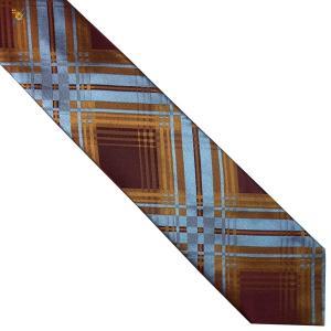 Vivienne Westwood ヴィヴィアン・ウェストウッド ネクタイ 8.5cm チェック柄 ブルー×ダークレッド系 24T85-P43color5 at-shop 02