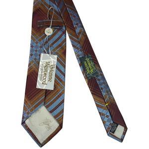 Vivienne Westwood ヴィヴィアン・ウェストウッド ネクタイ 8.5cm チェック柄 ブルー×ダークレッド系 24T85-P43color5 at-shop 03