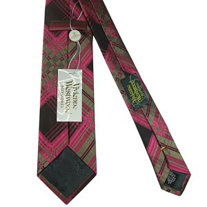 Vivienne Westwood ヴィヴィアン・ウェストウッド ネクタイ 8.5cm チェック柄 ブラウン×ピンク系 24T85-P43color6|at-shop|03