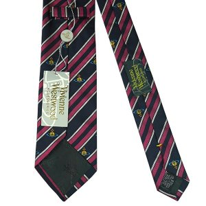 Vivienne Westwood ヴィヴィアン・ウェストウッド ネクタイ 8.5cm ストライプ柄 ネイビー×ピンク系 24T85-P49color5|at-shop|03