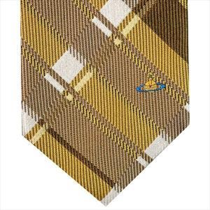 Vivienne Westwood ヴィヴィアン・ウェストウッド ネクタイ 8.5cm チェック柄 イエロー系 24T85-P50color2|at-shop|02