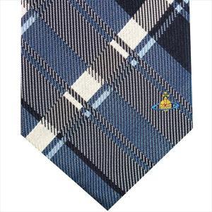 Vivienne Westwood ヴィヴィアン・ウェストウッド ネクタイ 8.5cm チェック柄 ブルー系 24T85-P50color5 at-shop 02