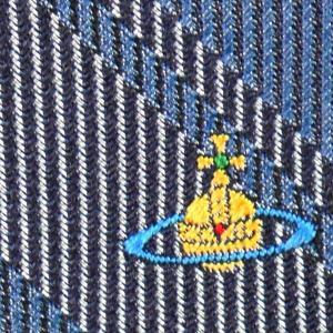 Vivienne Westwood ヴィヴィアン・ウェストウッド ネクタイ 8.5cm チェック柄 ブルー系 24T85-P50color5 at-shop 04