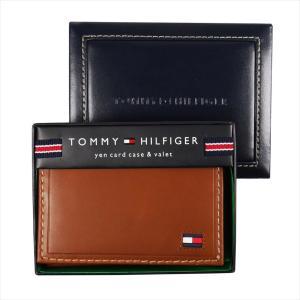 TOMMY HILFIGER トミー・ヒルフィガー 名刺入れ カードケース Highland ブラウン 31TL20X021 TAN|at-shop|05