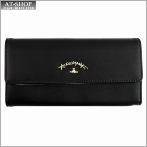 Vivienne Westwood ヴィヴィアン・ウェストウッド 財布サイフ 二つ折り長財布 ブラック 321233 BLACK|at-shop