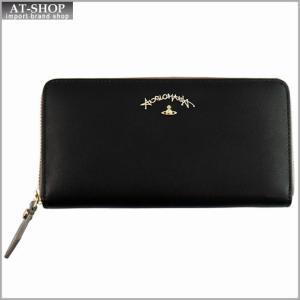 Vivienne Westwood ヴィヴィアン・ウェストウッド 財布サイフ ラウンドファスナー長財布 ブラック 321234 BLACK|at-shop