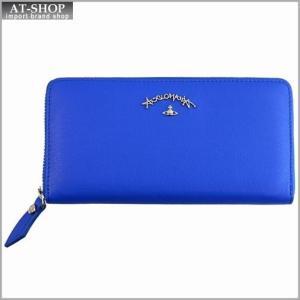 Vivienne Westwood ヴィヴィアン・ウェストウッド 財布サイフ レザー ラウンドファスナー長財布 ブルー 321246 BLUE|at-shop