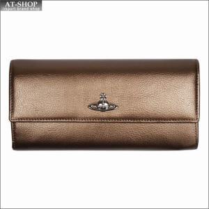 Vivienne Westwood ヴィヴィアン・ウェストウッド 財布サイフ NO,9 SHEFFIELD 二つ折り長財布 321555 GOLD 17AW ゴールド|at-shop