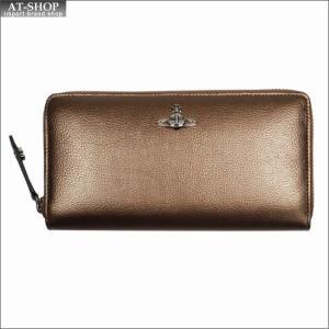 Vivienne Westwood ヴィヴィアン・ウェストウッド 財布サイフ NO,9 SHEFFIELD ラウンドファスナー長財布 321556 GOLD 17AW ゴールド|at-shop