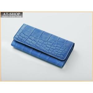 Della デラ 財布サイフ GIOIA クロコ型押し 二つ折り長財布 4001-CROCO-NAV ネイビー|at-shop