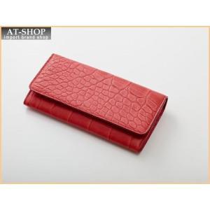 Della デラ 財布サイフ GIOIA クロコ型押し 二つ折り長財布 4001-CROCO-ORG オレンジ|at-shop
