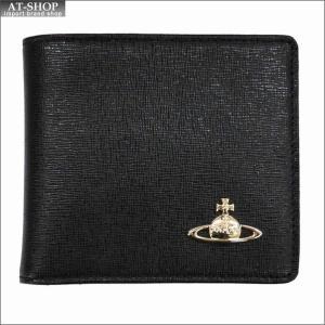 Vivienne Westwood ヴィヴィアン・ウェストウッド 財布サイフ NO,9 SAFFIANO 二つ折り財布 51010009-40153 BLACK 17AW ブラック|at-shop