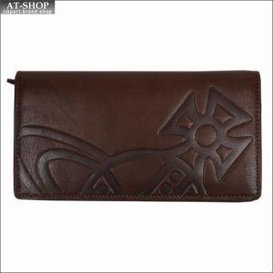 Vivienne Westwood ヴィヴィアン・ウェストウッド 財布サイフ NO,9 MAN GIANT ORB 二つ折り長財布 51040010-40176 BROWN 17AW ブラウン|at-shop