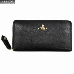 Vivienne Westwood ヴィヴィアン・ウェストウッド 財布サイフ NO,9 SAFFIANO ラウンドファスナー長財布 51050001-40153 BLACK 17AW ブラック|at-shop