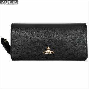 Vivienne Westwood ヴィヴィアン・ウェストウッド 財布サイフ NO,9 SAFFIANO 二つ折り長財布 51060001-40153 BLACK 17AW ブラック|at-shop