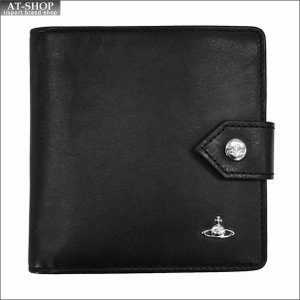 Vivienne Westwood ヴィヴィアン・ウェストウッド 財布サイフ NO,9 MAN ORB 二つ折り財布 51090001-40178 BLACK 17AW ブラック|at-shop