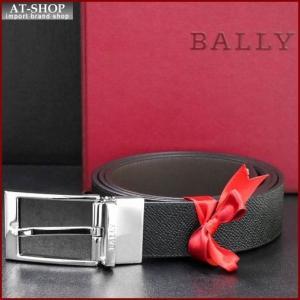 BALLY バリー ベルト BLACK CALF PRINTED 6181999 ブラック(型押し)×ブラック(ツヤ無)|at-shop