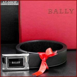 BALLY バリー ベルト BLACK CALF PLAIN 6184665 ブラック(ツヤ無)×ブラック(型押し)|at-shop
