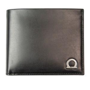 フェラガモ Ferragamo 財布サイフ ガンチーニ メンズ 二つ折り財布 66-8669 ブラック|at-shop