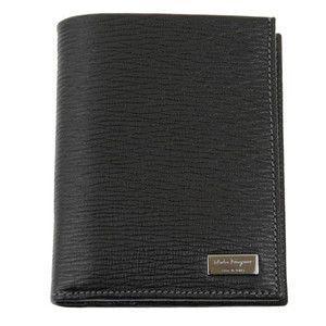 FERRAGAMO サルヴァトーレ フェラガモ 財布サイフ 二つ折り財布 66-7071 ブラック|at-shop