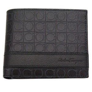 FERRAGAMO サルヴァトーレ フェラガモ 財布サイフ 二つ折り財布 66-8734 ブラック|at-shop