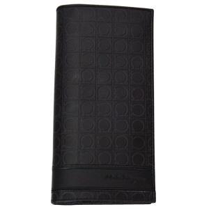 FERRAGAMO サルヴァトーレ フェラガモ 財布サイフ 二つ折り長財布 66-8745 ブラック|at-shop