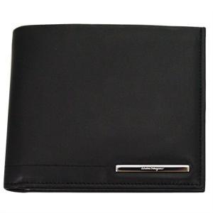 FERRAGAMO サルヴァトーレ フェラガモ 財布サイフ 二つ折り財布 66-9127 ブラック|at-shop