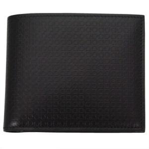FERRAGAMO サルヴァトーレ フェラガモ 財布サイフ 二つ折り財布 66-9148 ブラック|at-shop