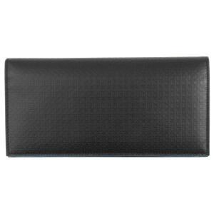 FERRAGAMO サルヴァトーレ フェラガモ 財布サイフ 二つ折り長財布 66-9151 ブラック(縁ブルー)|at-shop