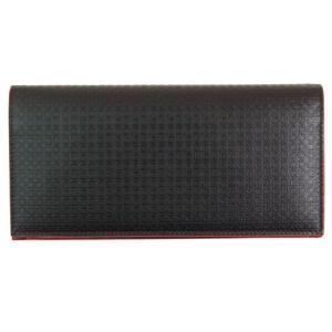 FERRAGAMO サルヴァトーレ フェラガモ 財布サイフ 二つ折り長財布 66-9151 ダークブラウン(縁レッド)|at-shop