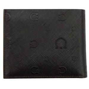 FERRAGAMO サルヴァトーレ フェラガモ 財布サイフ 二つ折り財布 66-9296 ダークブラウン|at-shop