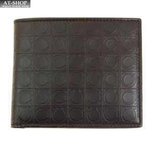 FERRAGAMO サルヴァトーレ フェラガモ 財布サイフ 二つ折り財布 66-9407 ブラウン|at-shop