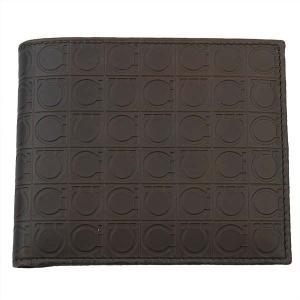FERRAGAMO サルヴァトーレ フェラガモ 財布サイフ 二つ折り財布 66-9685-02-572515 ブラウン×ベージュ|at-shop