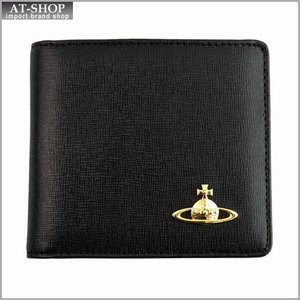 Vivienne Westwood ヴィヴィアン・ウェストウッド 財布サイフ NO,5 レザー 二つ折り財布 ブラック 730v11v BLACK|at-shop