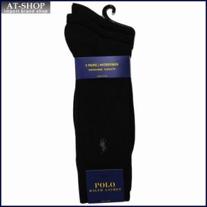 POLO RALPH LAUREN ポロ・ラルフローレン ソックス 3足セット8080PK-color001 ブラック|at-shop