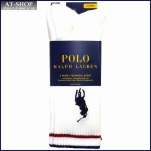 POLO RALPH LAUREN ポロ・ラルフローレン ソックス 3足セット821058PK-color150 ホワイト at-shop