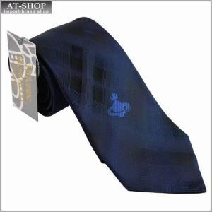 Vivienne Westwood ヴィヴィアン・ウェストウッド ネクタイ 8.5cm チェック柄 909013-C07-color0004 BLUE NAVY|at-shop