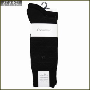 Calvin Klein カルバン・クライン ソックス 3足セット A91179-color00 ブラック系 at-shop