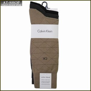Calvin Klein カルバン・クライン ソックス 3足セット A91179-color355 グレー×2:ブラック系 at-shop