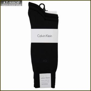 Calvin Klein カルバン・クライン ソックス 3足セット A91219-color00 ブラック系 at-shop