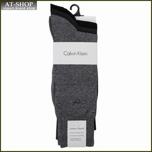Calvin Klein カルバン・クライン ソックス 3足セット A91219-colorF52 ライトグレー:グレー:ブラック系 at-shop
