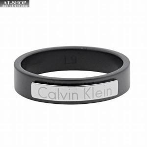 カルバンクライン Calvin Klein KJ7QBR280109 ロゴプレート リング 指輪 9号 (日本サイズ19号相当)|at-shop
