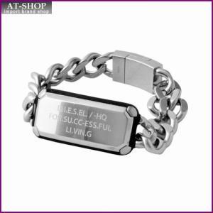 ディーゼル DIESEL DX1017040  ロゴプレート&チェーン メンズ ブレスレット ブレイブマン at-shop
