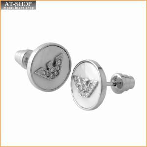 エンポリオアルマーニ EMPORIO ARMANI EGS2355040 イーグルロゴ スタッド ピアス STEEL/PP Stones/MOP|at-shop