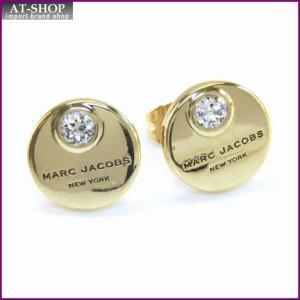 マークジェイコブス MARC JACOBS M0009789-168 Crystal/Gold MJ Coin Studs  コイン クリスタル スタッド ピアス|at-shop