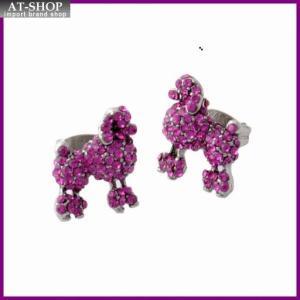 マークジェイコブス MARC JACOBS M0010474-650 Pink プードル パヴェ スタッド ピアス Charms Paradise Mini Poodle Studs|at-shop