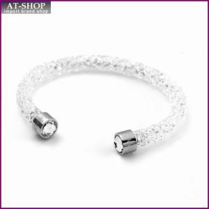 スワロフスキー SWAROVSKI 5255899 Crystaldust White クリスタルロック カフ バングル ブレスレット Sサイズ at-shop