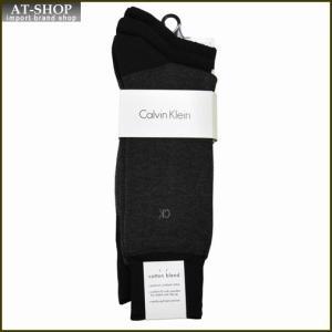 Calvin Klein カルバン・クライン ソックス 3足セット ACC173-color00 ブラック系 at-shop