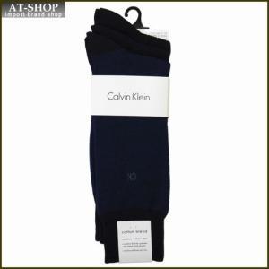 Calvin Klein カルバン・クライン ソックス 3足セット ACC173-color41 ネイビー系 at-shop